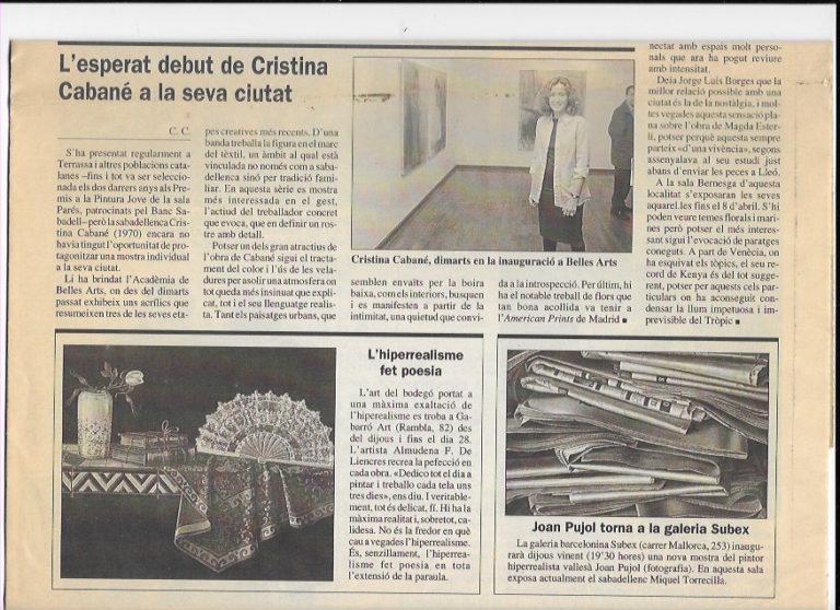 debut-Cristina-Cabane-en-sant-cugat-año-2000-recorte-prensa